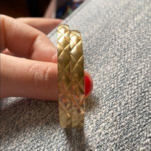 Jewelry - Post hoop earrings - gold tone